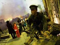 Mus?e de la bataille de Berlin Bataille ensanglant?e pour la capture de la capitale de Nazi Germany details image stock