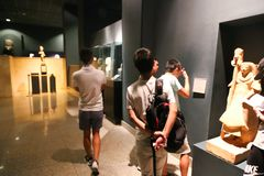 Musée de Louxor chez l'Egypte Photos stock