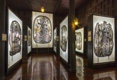 Musée de marionnettes d'ombre chez Nang Yai Wat Khanon Images libres de droits