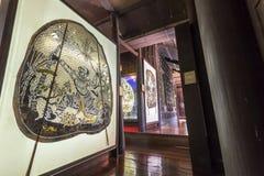 Musée de marionnettes d'ombre chez Nang Yai Wat Khanon Photos stock