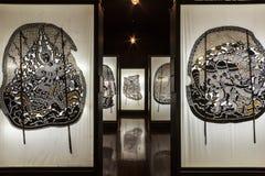 Musée de marionnettes d'ombre chez Nang Yai Wat Khanon Image libre de droits