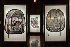 Musée de marionnettes d'ombre chez Nang Yai Wat Khanon Image stock