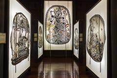 Musée de marionnettes d'ombre chez Nang Yai Wat Khanon Photographie stock libre de droits