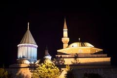 Musée de Mevlana (nuit) Image libre de droits