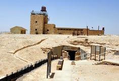 Musée de Mitzpe Revivim dans le désert du Néguev photos libres de droits