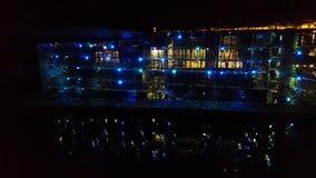 Musée de MUCEM à Marseille par nuit photographie stock libre de droits