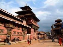 Musée de Patan et grand dos de Durbar, Patan (Lalitpur), Népal Images stock