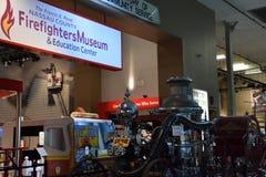 Musée de sapeurs-pompiers du comté de Nassau sur le Long Island à New York, Etats-Unis images stock