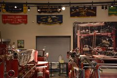 Musée de sapeurs-pompiers du comté de Nassau sur le Long Island à New York, Etats-Unis image stock