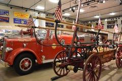 Musée de sapeurs-pompiers du comté de Nassau sur le Long Island à New York, Etats-Unis image libre de droits