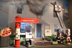 Musée de sapeurs-pompiers du comté de Nassau sur le Long Island à New York, Etats-Unis photo stock
