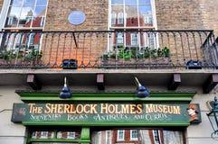 Musée de Sherlock Holmes sur la rue 221b, Londres, R-U de Baker photo stock