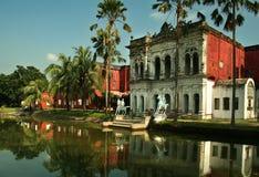 Musée de Sonargaon avec la réflexion Photo libre de droits