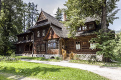 Musée de style de Zakopane dans la villa historique Koliba Image stock
