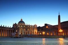 Musée de Vatican dans la basilique de la rue Peter image libre de droits