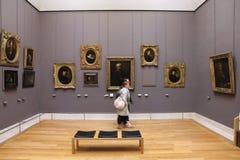 Musée de visite de personnes Image libre de droits