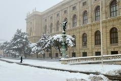 Musée des beaux-arts à Vienne, coin gauche de l'entrée image stock