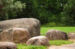 Musée des pierres en Lithuanie. Images stock