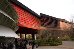 The Musée du quai Branly in Paris. The Musée du quai Branly, in Paris, France, features the indigenous art and cultures of Africa, Asia, Oceania, and the Royalty Free Stock Photos