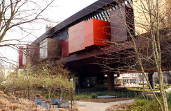 The Musee du quai Branly in Paris. The Musee du quai Branly, in Paris, France, features the indigenous art and cultures of Africa, Asia, Oceania, and the Stock Image