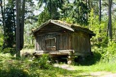 Musée en bois rustique Seurasaari, Helsinki de maison en plein air Photographie stock libre de droits