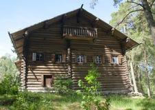 Musée en bois rustique Seurasaari, Helsinki de maison en plein air Images stock