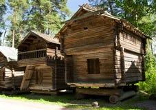 Musée en bois rustique Seurasaari, Helsinki de maison en plein air Photo libre de droits