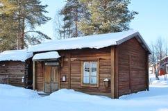 Musée en plein air Hägnan dans Gammelstad Images stock