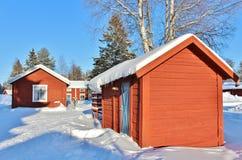 Musée en plein air Hägnan dans Gammelstad Image libre de droits