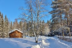 Musée en plein air Hägnan dans Gammelstad Images libres de droits