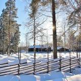 Musée en plein air Hägnan dans Gammelstad Photographie stock libre de droits