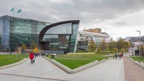 Musée et Sanoma de Kiasma construisant Helsinki Finlande Photographie stock