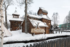 Musée ethnographique de Bystrinsky Village d'Esso, le Kamtchatka Peninsul Images libres de droits