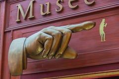 Musée Grévin shield Passage in Paris royalty free stock photos