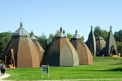 Musée hongrois de yurta Photos stock