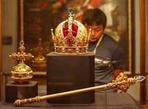 Musée impérial de trésor à Vienne photos libres de droits