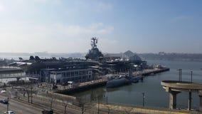 Musée intrépide de mer, d'air et d'espace Images libres de droits