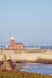 Musée la Californie de phare et de vague déferlante de Santa Cruz Images libres de droits