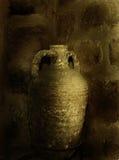 Musée, le récipient antique d'argile, Image stock
