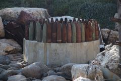Musée Liban de guerre de Mlita photo stock