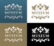 Musée Logo Design Illustration Stock