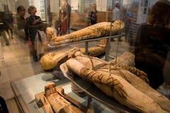 Musée-momies britanniques Photos stock
