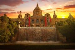 Musée National à Barcelone Image libre de droits