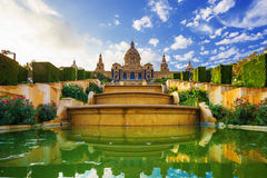 Musée National à Barcelone. Espagne Photos stock