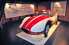 Musée national d'automobile à Turin photo stock