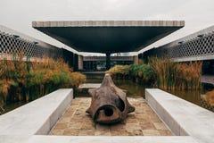 Musée National de l'anthropologie Mexico Image libre de droits