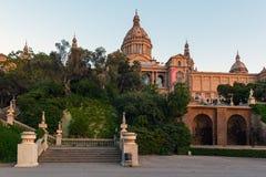 Musée National de la Catalogne à Barcelone, Placa De Espanya, Espagne Photo stock