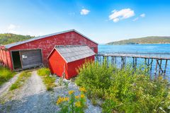 Musée norvégien de scierie, Namsos photos stock