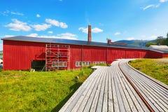Musée norvégien de scierie, Namsos photographie stock libre de droits