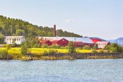 Musée norvégien de scierie, Namsos photo libre de droits